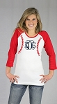 Raglan Baseball Seams Monogram Shirts