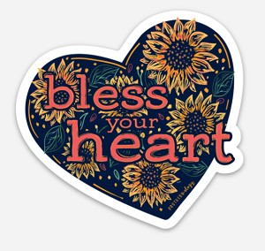 Sunflower Bless Your Heart Decal
