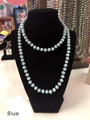 "19"" Glass Bead Necklaces"