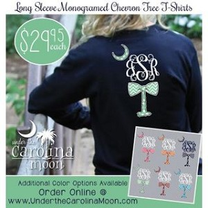 Longsleeve Preppy Chevron Monogram Bow/Tree
