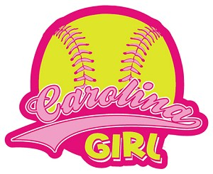 Softball Carolina Girl Decal