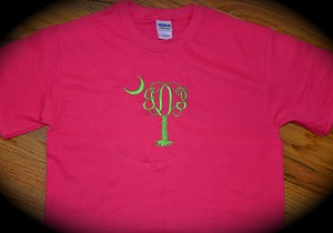 LS Palmetto Tree Monogrammed T-shirt