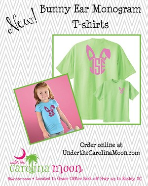Bunny Ear Monogram Toddler T-shirt