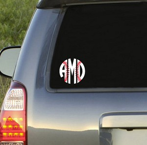 Baseball  Monogram Decal