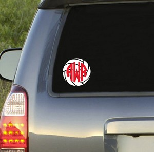 Preppy Volleyball  Monogram Decal