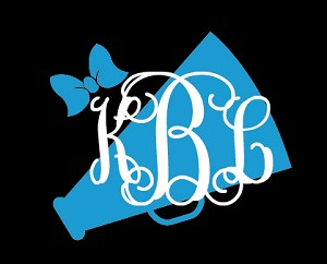 Preppy Cheer  Monogram Decal
