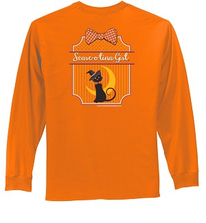 Scare-o-lina Girl® Preppy Cat Long Sleeve