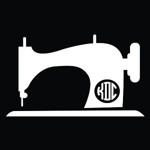 Sewing Machine Monogram Car Decal