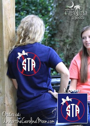 Bow Baseball Monogram Shirt