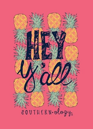 Southernology® Coral Hey Y'all Pineapple T Shirt