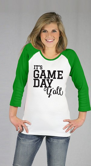 It's Game Day Y'all Raglan