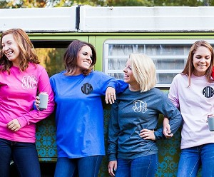 Long Sleeve Left Chest Monogram