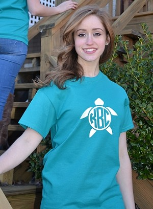 Turtle Center Monogram T-shirt