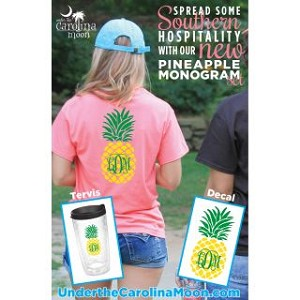 Southern Hospitality Pineapple Monogram Decal